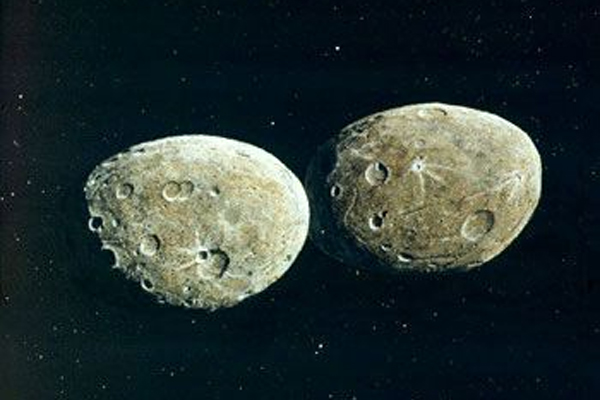 Hektor, the asteroid with its own moon