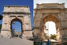 Composite photo of Arch of Titus