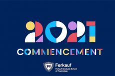 Placard announcing the 2021 Ferkauf Commencement