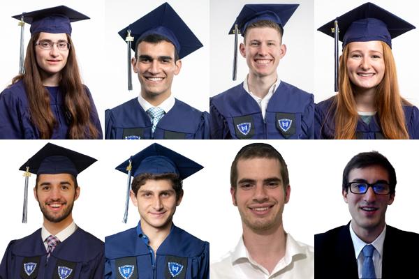 Composite of the eight valedictorians' photos