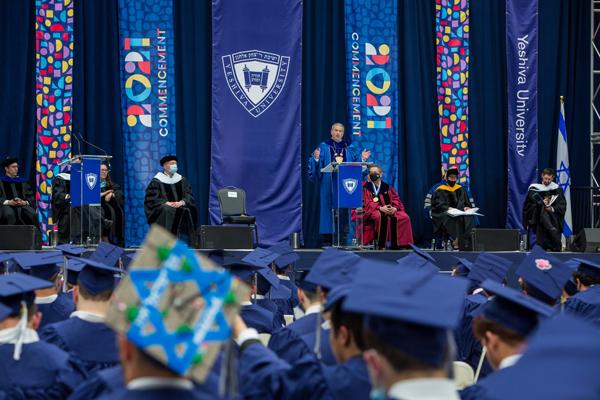 Yeshiva University 2021 Commencement at Arthur Ashe Stadium in Flushing, Queens, Wednesday, May 26, 2021. President Berman