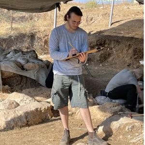 YU student at Tell es-Safi/Gath archeological dig in Israel