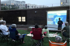 Dr. Ran Drori teaches science on the terrace