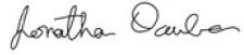 Signature of Jonatha Dauber
