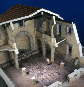 Model of the Beth Alpha Synagogue (early sixth century C.E.) Displaycraft, 1972, Collection of Yeshiva University Museum Endowed by Erica and Ludwig Jesselson