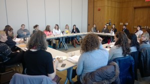 Canadian Wurzweiler students meet with Wurzweiler Administration and Advisors (2)