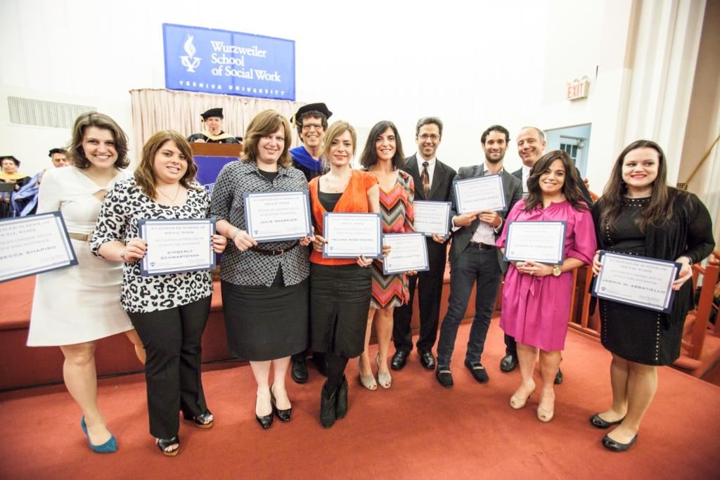 Several students graduating from Wurzweiler School of Social Work's Certificate in Jewish Philanthropy