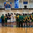 YU and NJIT basketball teams hold a moment of silence for the victims in Jersey City