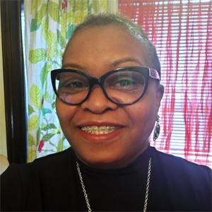 Joyce Roberson-Steele smiling.